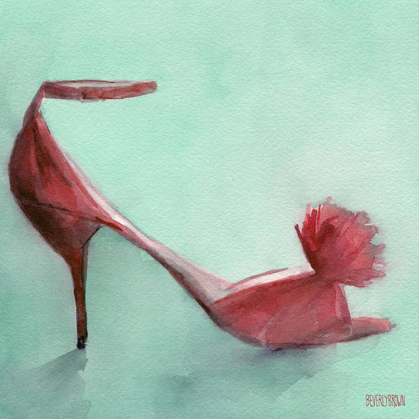 High Heel Red Shoes Painting Poster