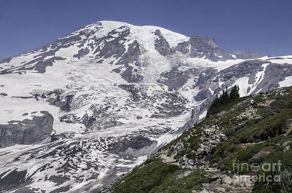 Hiking Mt Rainier Poster