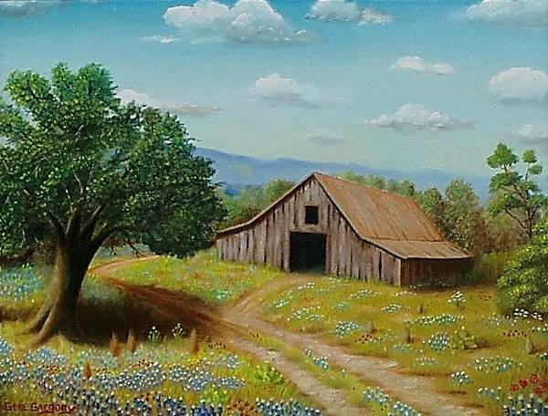 Hill Country Barn   Poster