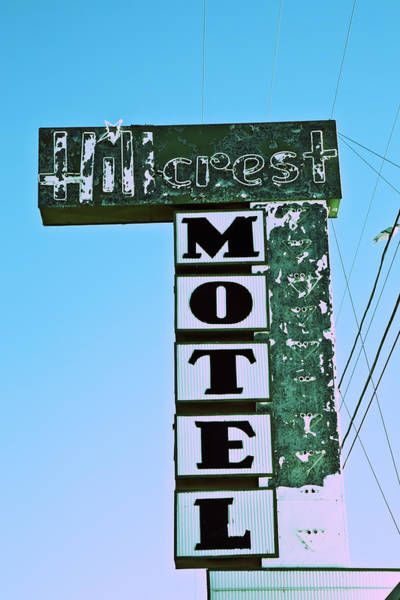 Poster featuring the photograph Hillcrest Motel by Gigi Ebert