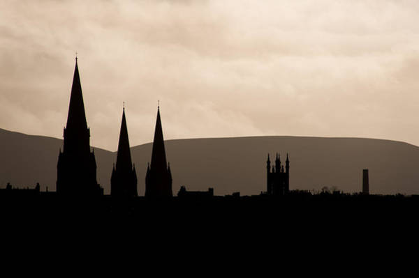 Poster featuring the photograph Hills And Spires by Ross G Strachan