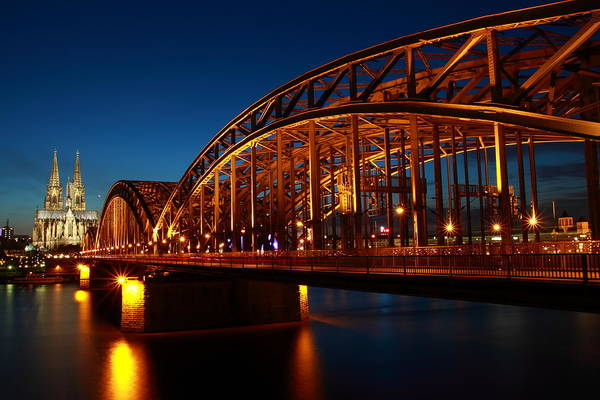 Poster featuring the photograph Hohenzollern Bridge by Mihai Andritoiu