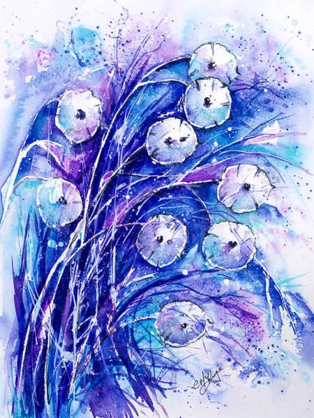 Honesty Winter Blue Poster