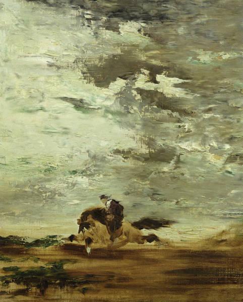 Horseman Oil On Canvas Poster