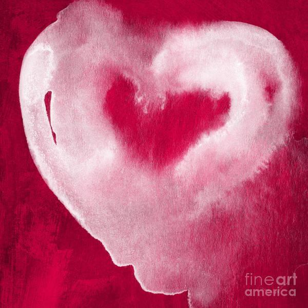 Hot Pink Heart Poster