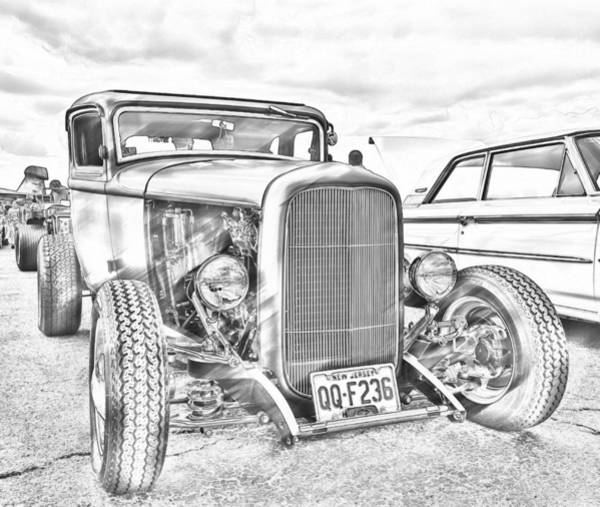 Hot Rod Faux Sketch Poster