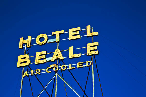 Poster featuring the photograph Hotel Beale by Gigi Ebert