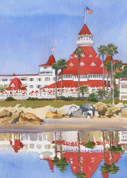 Hotel Del Coronado Reflected Poster