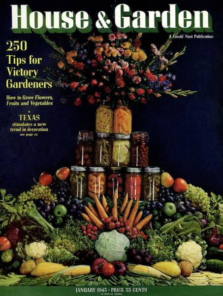 House And Garden Cover Featuring Fruit Poster
