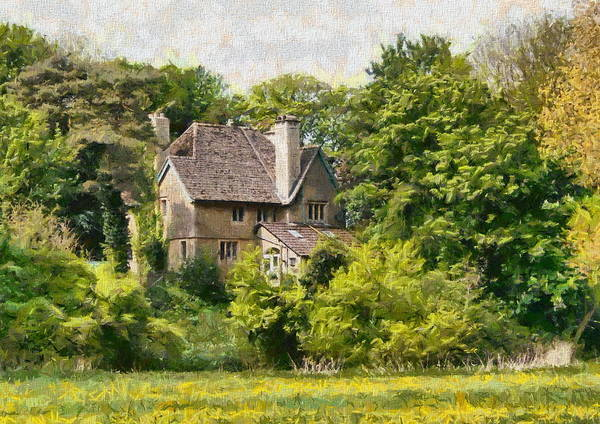 Poster featuring the photograph House In The Woods by Paul Gulliver