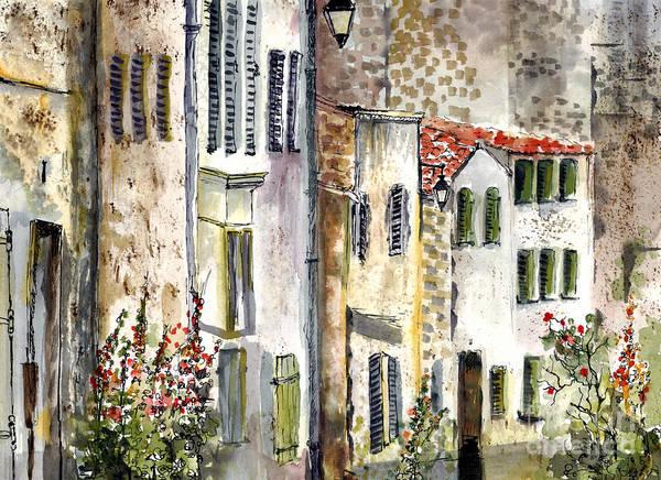 Houses In La Rochelle France Poster
