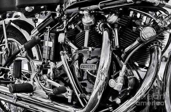 Hrd Vincent Motorcycle Engine Poster