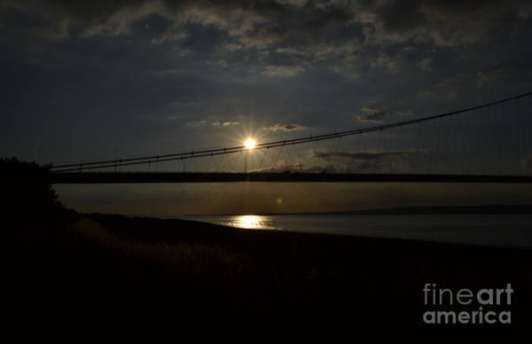 Humber Bridge Sunset Poster