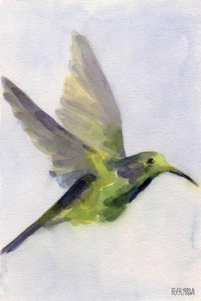 Hummingbird Watercolor Bird Painting Poster