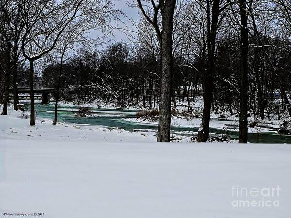 Huron River In Monroeville Poster