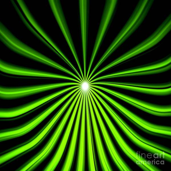 Hyperspace Electric Green Square Poster