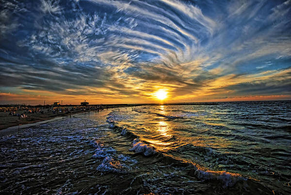 Hypnotic Sunset At Israel Poster