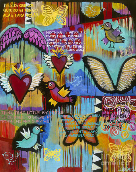 Poster featuring the painting I Have Wings To Fly by Carla Bank