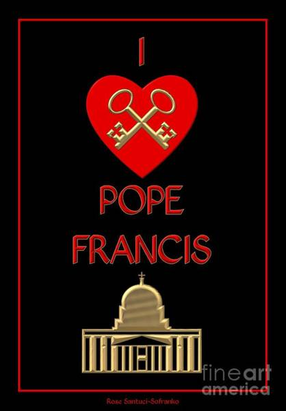 I Love Pope Francis Poster