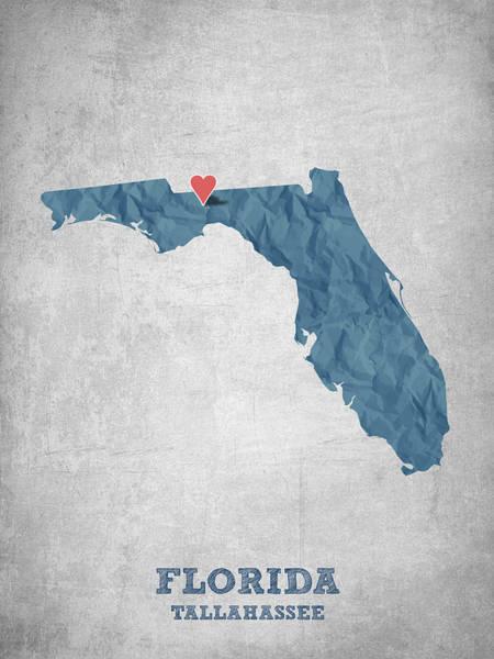 I Love Tallahassee Florida - Blue Poster