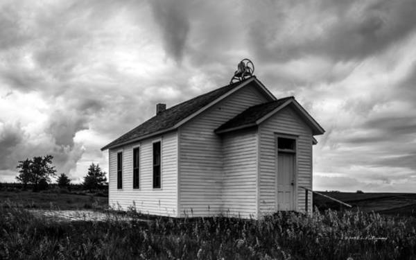 Poster featuring the photograph Icarian Schoolhouse by Edward Peterson