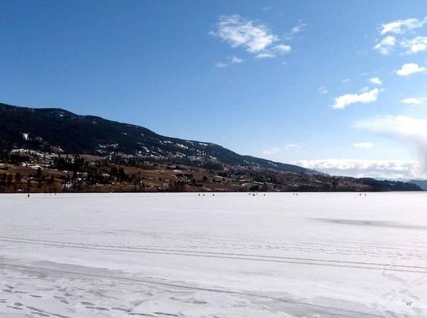 Ice Fishing On Wood Lake Poster