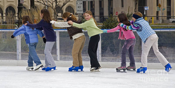 Ice Skaters Poster
