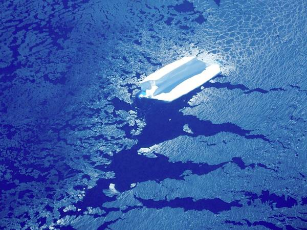 Iceberg With Attached Sea Ice Poster
