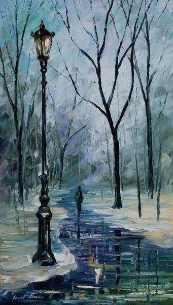 Icy Path - Palette Knife Oil Painting On Canvas By Leonid Afremov Poster