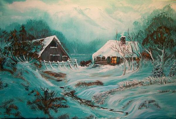 Icy Twilight Poster