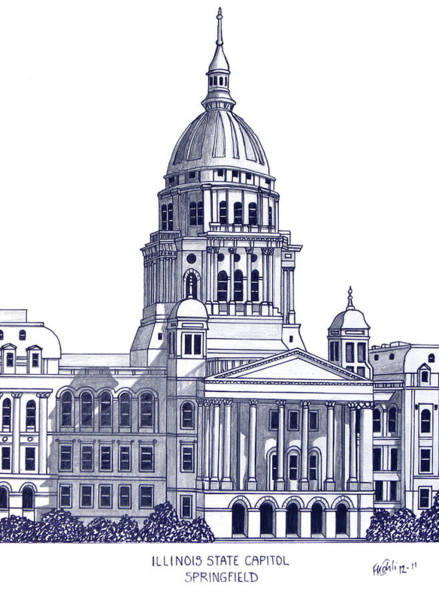 Illinois State Capitol Poster