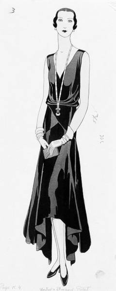 Illustration Of A Woman Wearing A Dress Poster