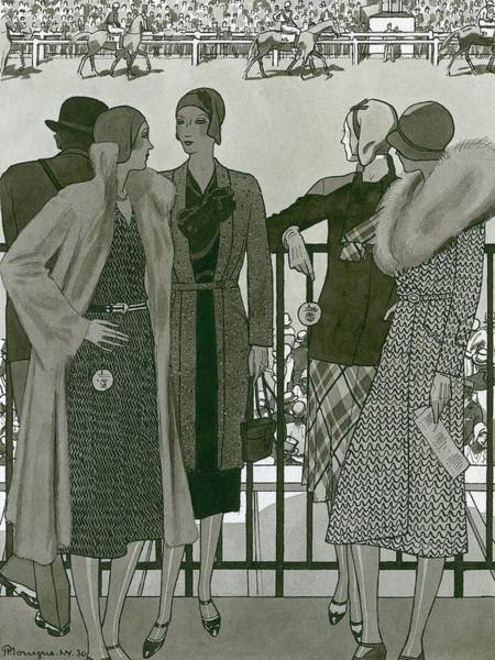 Illustration Of Four Women At The Grand National Poster