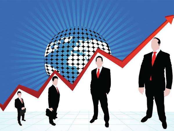 Illustration Of Global Profit Poster