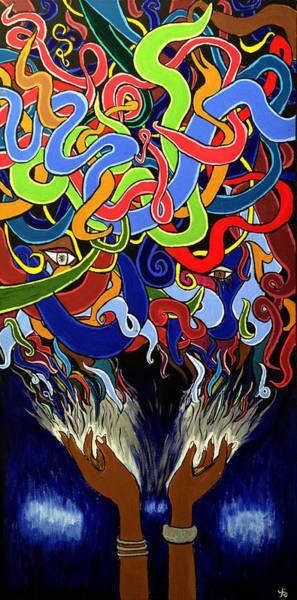 In The Midst - Abstract Art Painting  - Ai P. Nilson Poster
