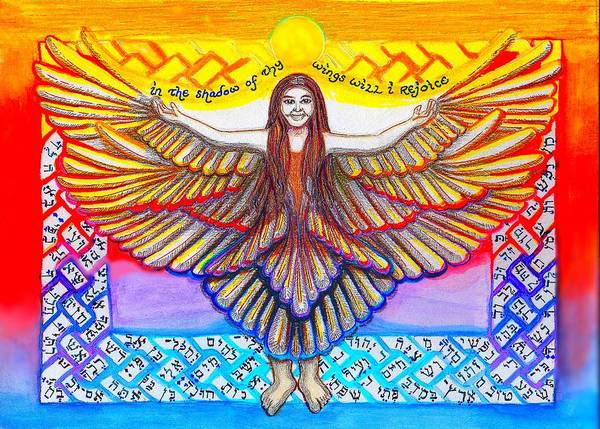 In The Shadow Of Thy Wings Psalms Poster