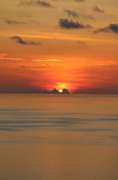 Poster featuring the photograph Indian Ocean Sunset  by Debbie Cundy