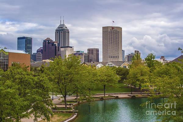 Indianapolis Indiana Skyline 1000 Poster