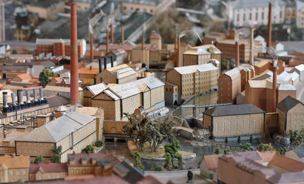Industrial Town Miniature Model Poster