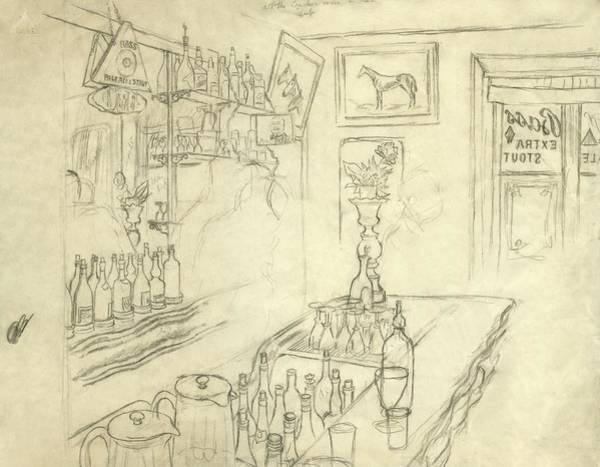 Interior Of Jack Mccann's Bar Poster