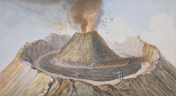 Interior Of The Cone Of Vesuvius Before Poster