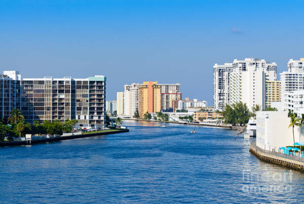 Intracoastal Waterway In Hollywood Florida Poster