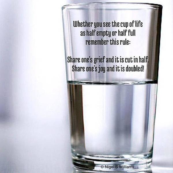 Is It Half Empty Or Half Full Poster