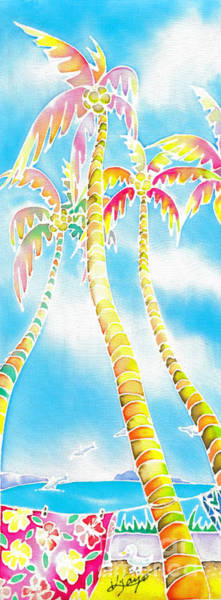 Poster featuring the painting Island Breeze by Hisayo Ohta