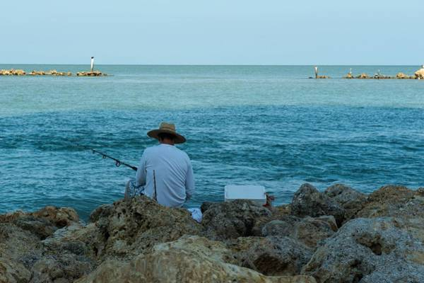 Island Fisherman Poster