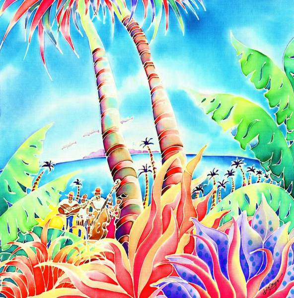 Poster featuring the painting Island Of Music by Hisayo Ohta