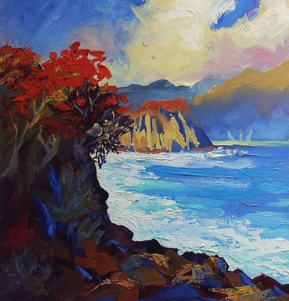 Islands Seascape Original Oil Painting Poster