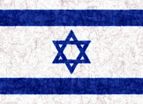 Israel Star Of David Flag Batik Poster
