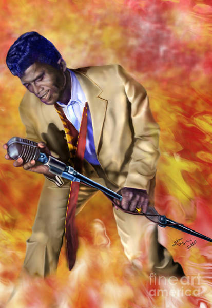 James Brown And His Famous Flames Poster