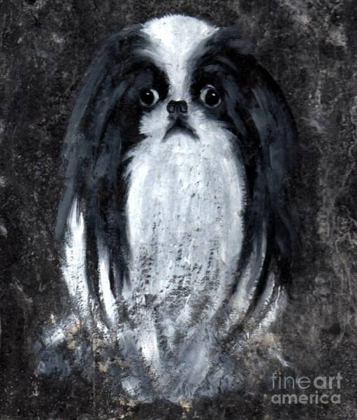 Poster featuring the painting Japanese Chin by Wendy Ray